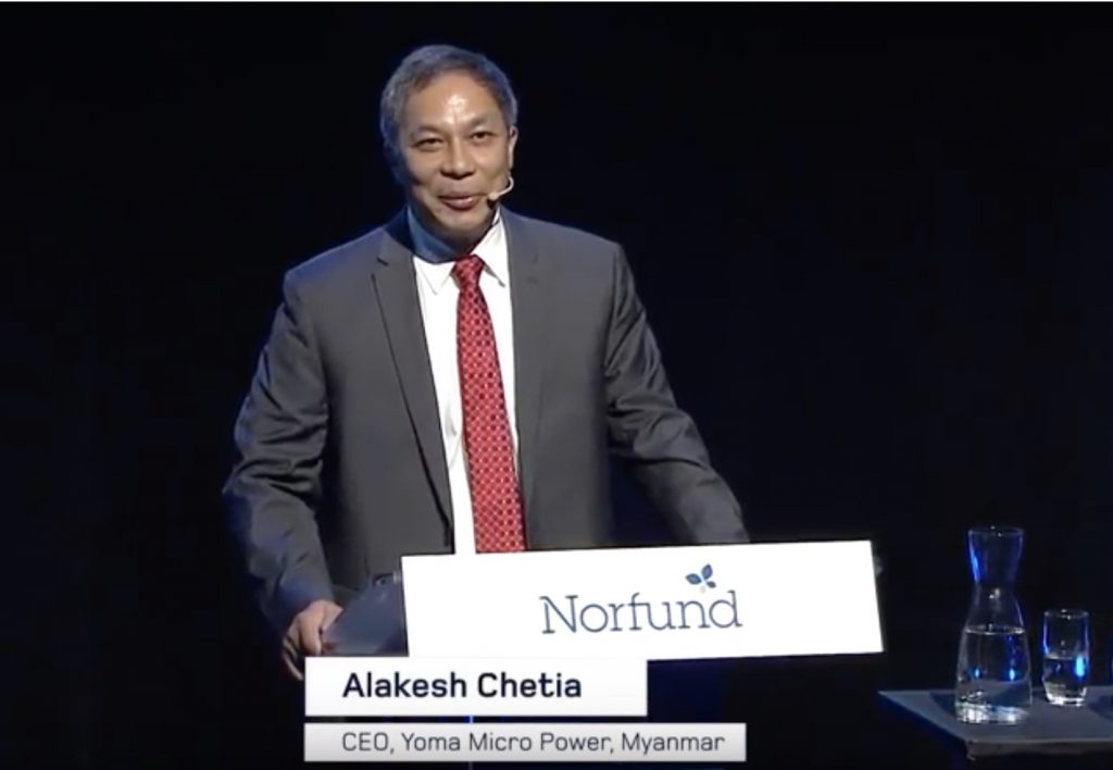 Alakesh Chetia Speaks at Norfund's Summer Conference